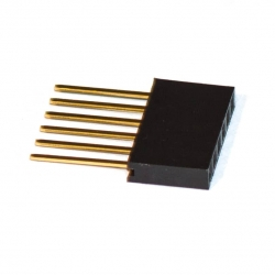 PCB Header Stackable 1x6p (for Arduino)
