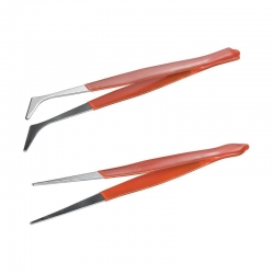 Tweezers Set with Rubber Handles (2pcs)