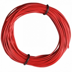 Insulated Copper Wire, 10m, 1 x 0.14 mm, Red