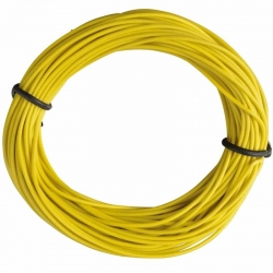 Insulated Copper Wire, 10m, 1 x 0.14 mm, Yellow