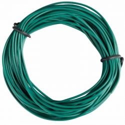 Insulated Copper Wire, 10m, 1 x 0.14 mm, Green
