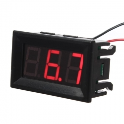 Mini LED Voltmeter DC Red 0-100V