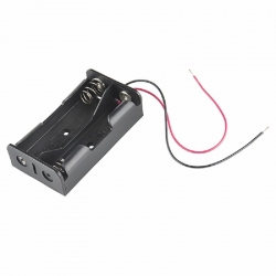 Battery Holder 2x18650 (with Cables)
