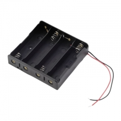 Battery Holder 4x18650 (with Cables)