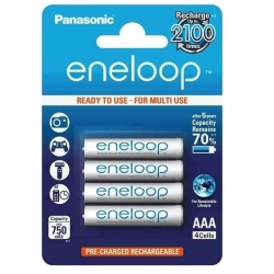 Panasonic eneloop AAA Rechargeable Batteries 750mAh (4pcs)