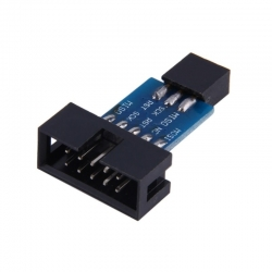 10p to 6p Adapter Board for AVRISP MKII USBASP STK500