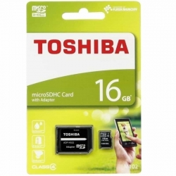 Toshiba M102 microSDHC 16GB Class 4 (with adapter)