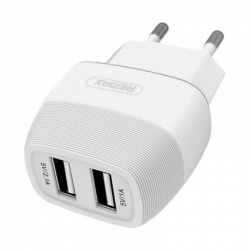 REMAX Flinc Charger 5v 2.1A 2xUSB WHITE EU