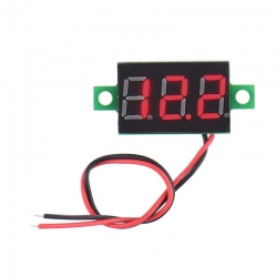 "0.36"" LCD Digital Voltmeter 2.45-30V RED"