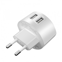 HOCO Wall charger Shell C67A 2xUSB 2.4A White