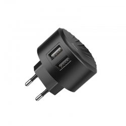 hoco-wall-charger-shell-c67a-2xusb-24a-black-gr