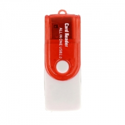 USB Card Reader CR02 Red