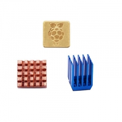 Heatsink Set Copper & Aluminum for Raspberry Pi (3-pack)