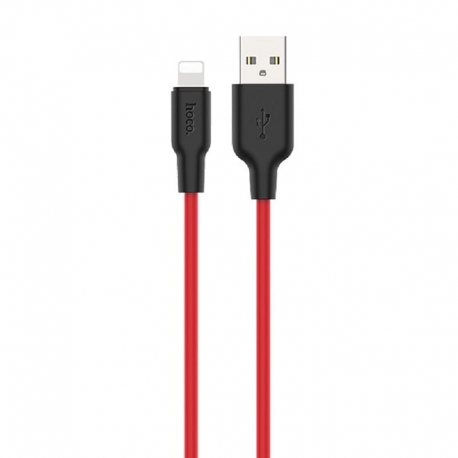 hoco-x21-plus-silicone-lightning-cable-1m-black-red-gr
