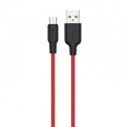 hoco-x21-plus-silicone-microusb-cable-1m-black-red