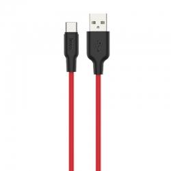 hoco-x21-plus-silicone-type-c-usb-cable-1m-black-red-gr