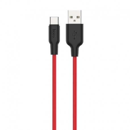 hoco-x21-plus-silicone-type-c-usb-cable-1m-black-red