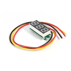 "0.28"" LCD Digital Voltmeter 0-100V RED"