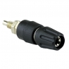 Banana Plug Contact (Panel, Insulated) Black