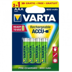 Varta AAA Rechargeable Batteries 800mAh (4pcs)