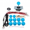 Arcade Game Controller USB Joystick Kit - Blue