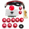 Arcade Game Controller USB Joystick Kit - Red