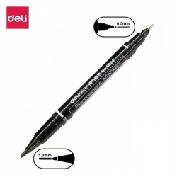 deli-double-tip-permanent-marker-6824-black-gr