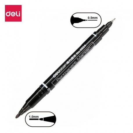 deli-double-tip-permanent-marker-6824-black-gr