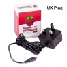 Raspberry Pi Official Power Supply 5.1V 3.0A (UK Black)