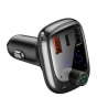 Baseus S-13 Car Charger with FM Transmitter and Bluetooth 5.0