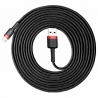 Baseus Cafule Braided Lightning Cable Black-Red 3m (CALKLF-R91)