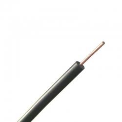 Μονόκλωνο Καλώδιο 4μέτρα, 0.5mm2 Μαύρο