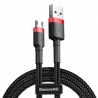 Baseus Cafule Braided MicroUSB Cable Black-Red 2m
